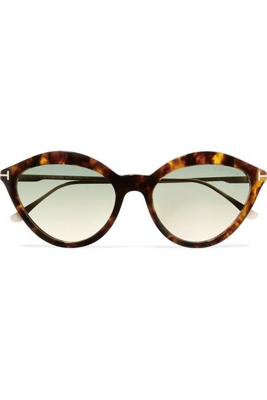 469ecf003f5c TOM FORD. Cat-eye tortoiseshell acetate and gold-tone sunglasses