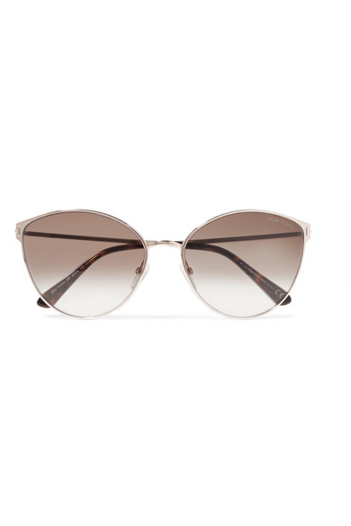 3fed1335770d TOM FORD. Zeila cat-eye rose gold-tone and tortoiseshell acetate sunglasses