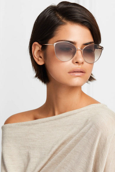 8496bec98453 TOM FORD. Zeila cat-eye rose gold-tone and tortoiseshell acetate sunglasses.   460. Zoom In