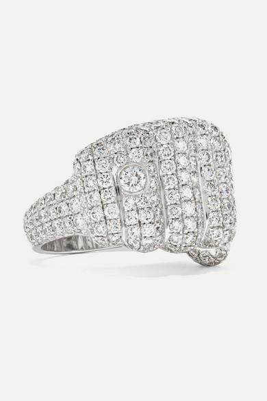 OFIRA Pow 18-Karat White Gold Diamond Ring