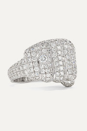 Pow 18-karat white gold diamond ring