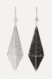 Ofira 18-karat blackened white gold diamond earrings