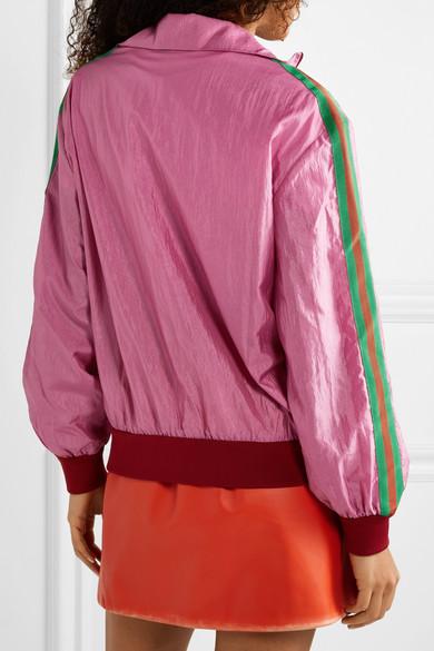 fa20a19eb Gucci   Grosgrain-trimmed printed shell track jacket   NET-A-PORTER.COM