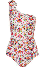 Tokyo one-shoulder printed swimsuit