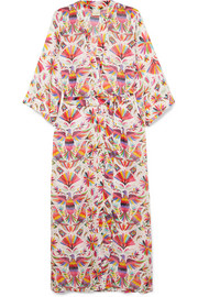 Printed voile robe