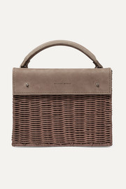 Kuai rattan and leather tote