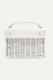 Kuai mini rattan and leather tote
