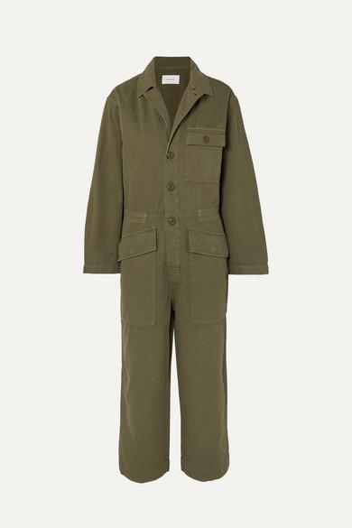 Current Elliott Suits The Richland cotton and linen-blend jumpsuit