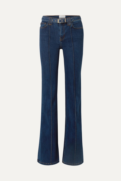 Current Elliott Jeans The Admirer belted high-rise flared jeans