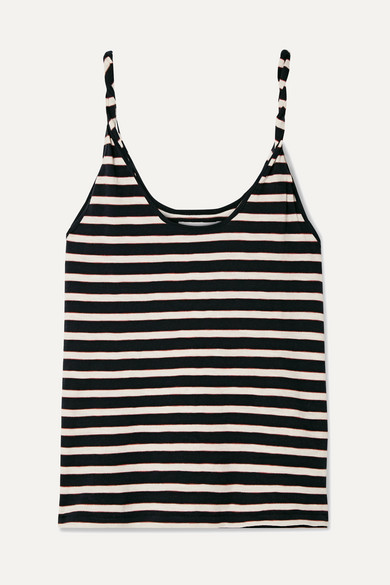 Current Elliott Tops The Twisted striped stretch-cotton jersey tank