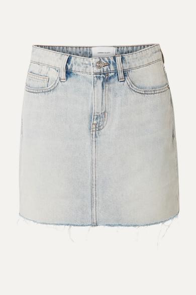 Current Elliott Skirts The Five Pocket frayed denim mini skirt