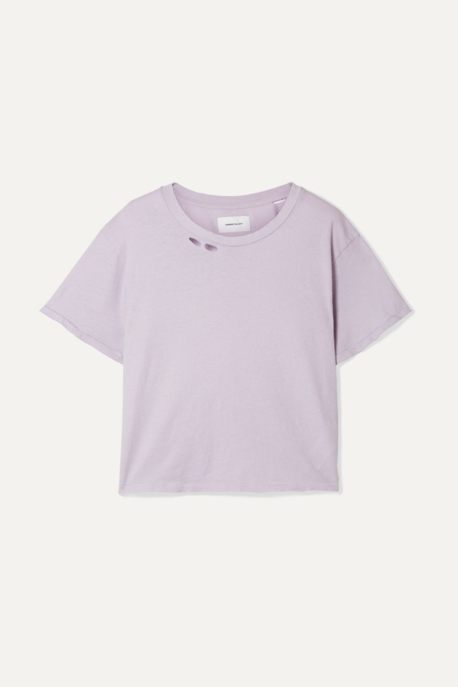 Current/Elliott The Short distressed cotton-jersey T-shirt