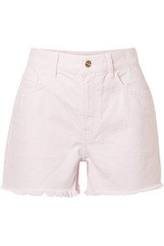 The Aficionado frayed denim shorts