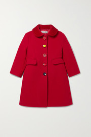 Ages 2 - 6 velvet-trimmed wool-blend coat