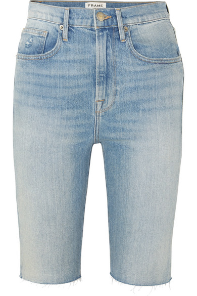 Frame Pants Le Vintage Bermuda frayed denim shorts
