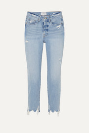 FRAME Le Original distressed high-rise jeans