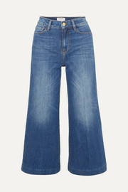 Le Vintage Crop high-rise wide-leg jeans
