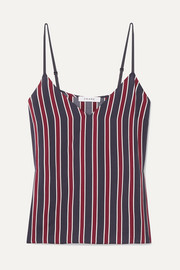 Classic striped charmeuse camisole