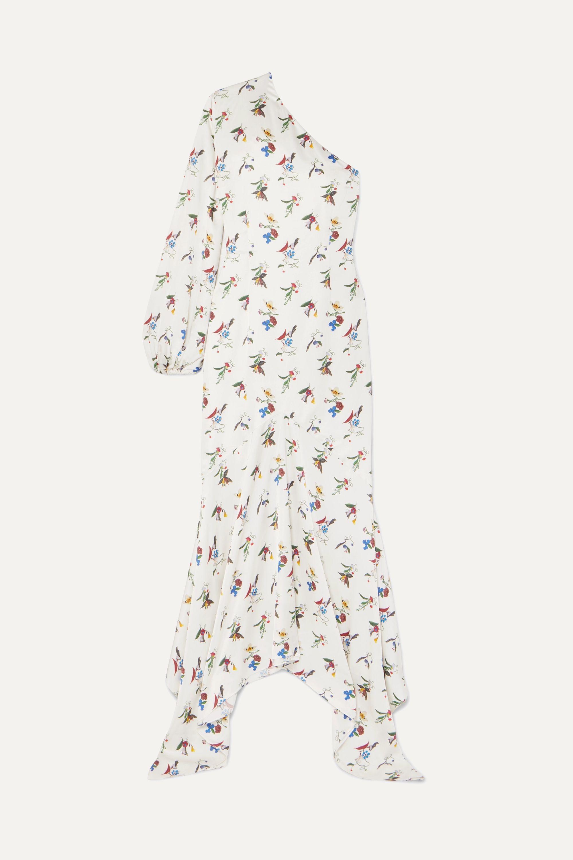 Solace London Savon one-shoulder floral-print crepe maxi dress
