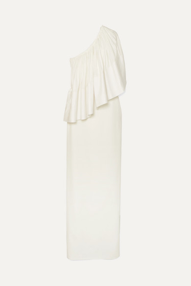 Solace London Tops LISON ONE-SHOULDER STRETCH-CADY GOWN