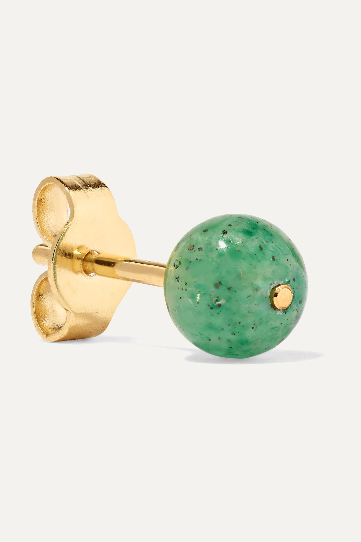 Saskia Diez Birthday gold and stone earrings