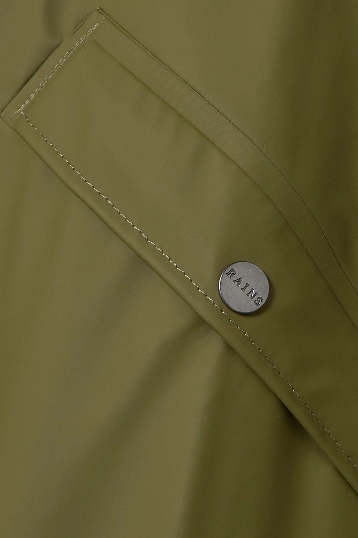 Rains Hooded matte-PU raincoat