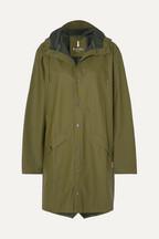 ce7c8e6cd16c4b Rains Hooded matte-PU raincoat