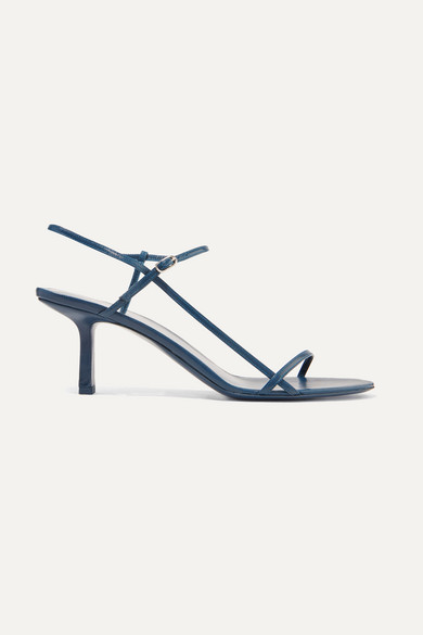 Bare Leather Sandals - Teal Size 10 in Navy