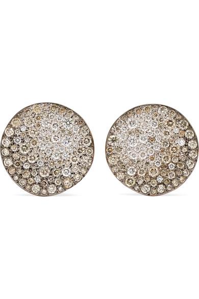 b867125a0 Pomellato | Sabbia 18-karat rose gold diamond clip earrings | NET-A ...