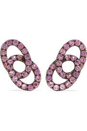 18-karat rose gold sapphire clip earrings