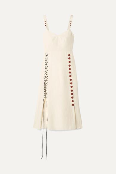 37556c0feb8 By Malene Birger | Lace-up woven midi dress | NET-A-PORTER.COM