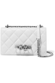 Alexander McQueen Jewelled Satchel embellished quilted leather shoulder bag