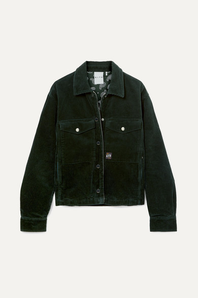 KITH Maya Cotton-Corduroy Jacket in Forest Green