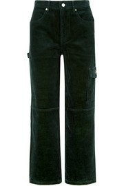 Rya cotton-corduroy boyfriend pants