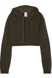 Kith Alexa cropped cotton-jersey hoodie