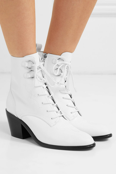 97ffff3c16 Diane von Furstenberg | Dakota lace-up leather ankle boots | NET-A ...