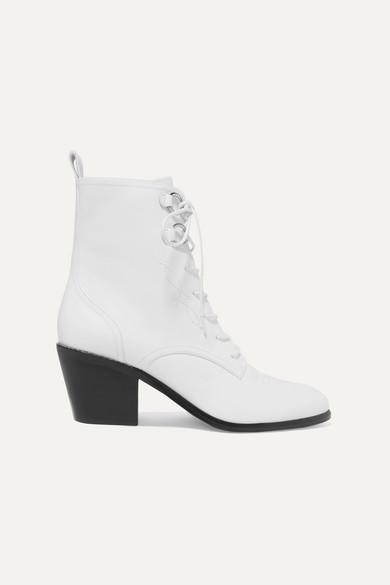 2ebedced03 Diane von Furstenberg | Dakota lace-up leather ankle boots |  NET-A-PORTER.COM