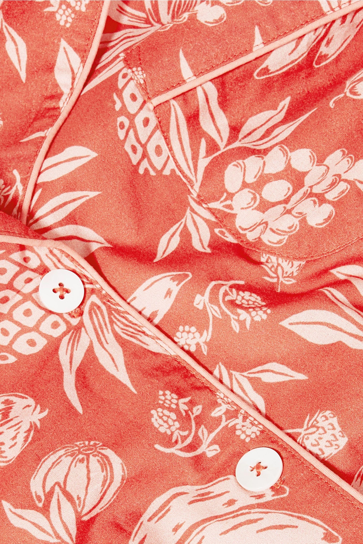 Desmond & Dempsey Printed cotton-voile pajama set