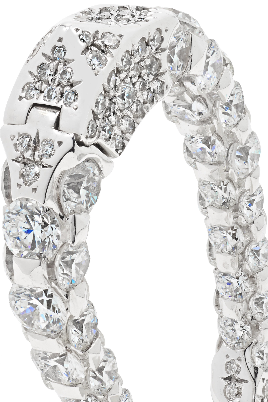 Boghossian Merveilles Halo 18-karat white gold diamond earrings