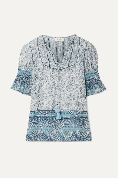 Sea Tops Bella printed voile top