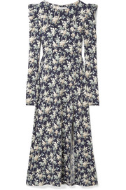 Floral-print cotton-jersey midi dress