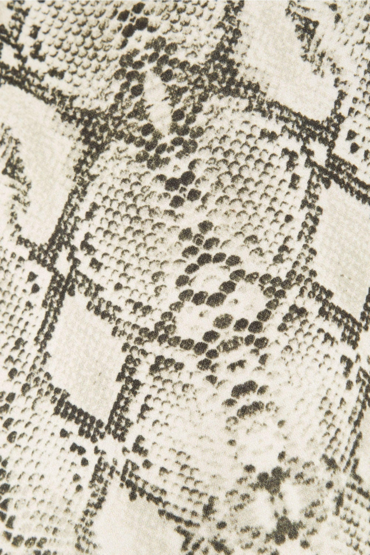 Les Rêveries Snake-print cotton straight-leg pants