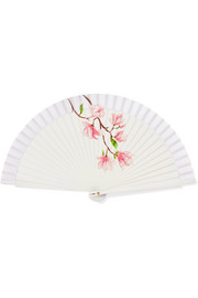 Fern Fans Painted birchwood and cotton-voile fan
