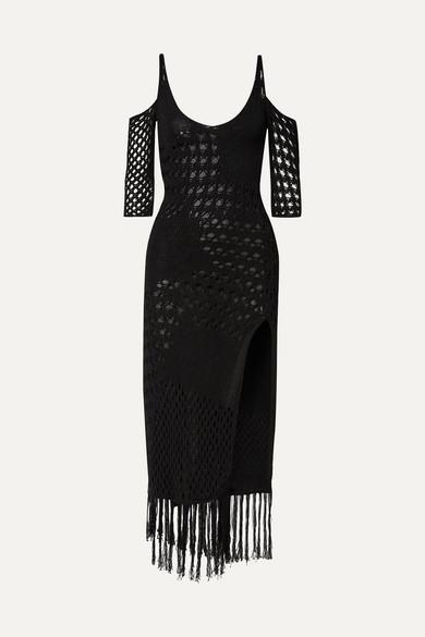 Altuzarra Dresses Octavia fringed crocheted cotton-blend midi dress