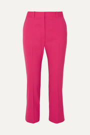 Adler cropped stretch-wool flared pants