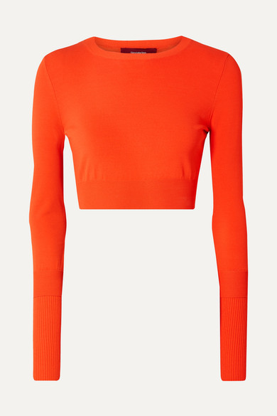 Sies Marjan Knits Gwin cropped stretch-knit sweater