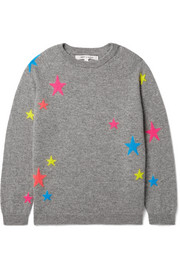 Sizes XSmall - Large Star intarsia cashmere sweater
