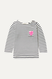Sizes XSmall - Large striped cotton-jersey top