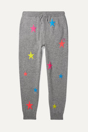 Chinti and Parker Kids Sizes Small - Large Star intarsia cashmere track pants