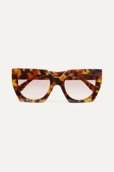 Dahlia Tortoiseshell Square-frame Acetate Sunglasses